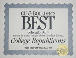 Best CU Student Group 2005: The College Republicans